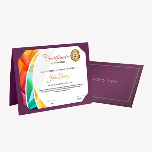 Certificate Folder 2